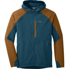 Outdoor Research Ferrosi Hooded Jacket Herr peacock/saddle